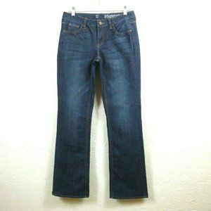 NY&C Womens Jeans 6 Blue Whisker Bootcut Lowrise